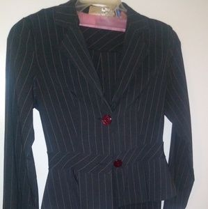 No Boundaries Pinstripe Pink and Grey Suit Size3/5